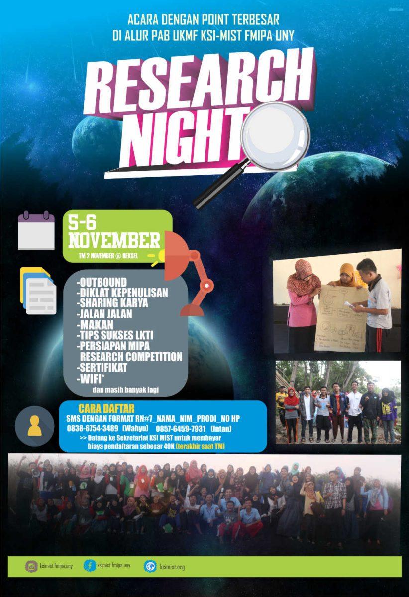 Pendaftaran Research Night #7